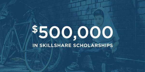 applying for skillshare scholarships