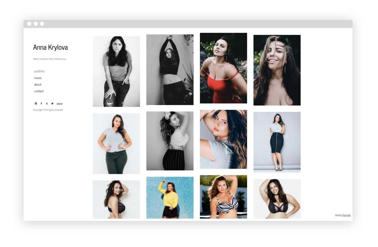 build your online model profile with wix