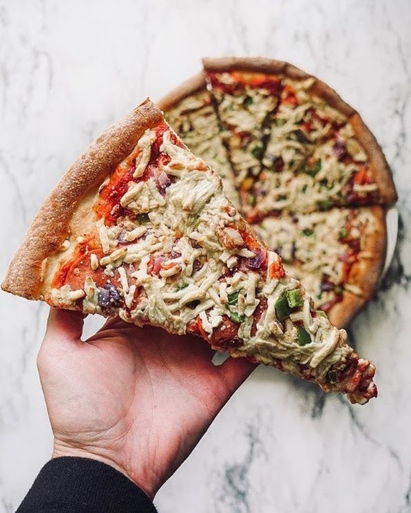 here comes panago drool worthy vegan pizza 2