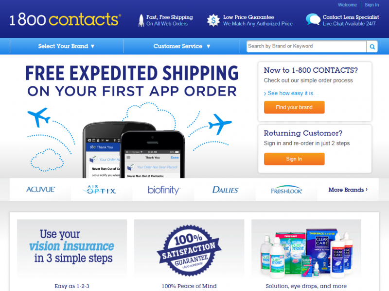 how to save a big at 1800 contacts