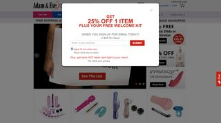 Adam And Eve Coupons & Promo codes