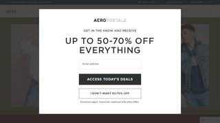 Aeropostale 20 Off Email Sign Up Coupons & Promo codes