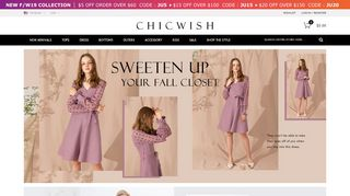 Chicwish Coupon & Promo codes