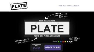 Custom Plate Frames AU Coupons & Promo codes