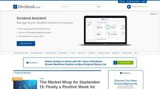 dividend com assistant