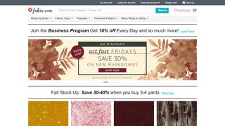 Coupon For Fabric Com Coupons & Promo codes