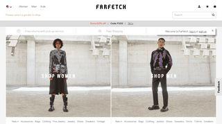 Farfetch Coupon & Promo codes