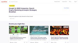Googleforindustrial.eventbrite.com Coupons & Promo codes