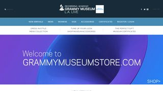 Grammymuseumstore.com Coupons & Promo codes