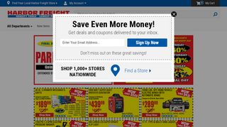 110 Off Harborfreight Com Coupons Promo Codes November 2020