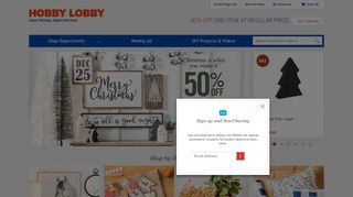 Hobby Lobby Coupon 40 Off Printable & Promo codes