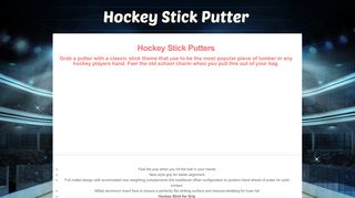 Hockeystickputters.com Coupons & Promo codes