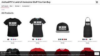 Joshuadtv.spreadshirt.com Coupons & Promo codes