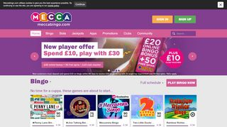 Mecca Bingo Free Main Session Voucher & Coupon codes