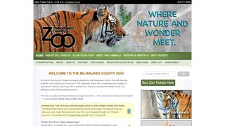 Milwaukee County Zoo Discount Code & Coupon codes
