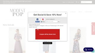 Modestpop.com Coupons