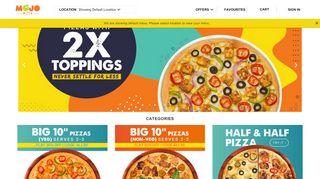 Mojo Pizza Coupon Code & Promo codes