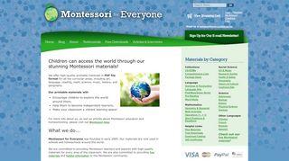 Montessoriforeveryone.com Coupons & Promo codes