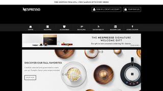 Nespresso Canada Coupon & Promo codes
