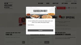 New Orleans Pizza Coupon Code & Promo codes