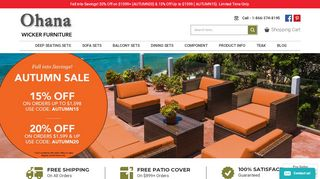 Ohana Wicker Furniture Promo Code & Discount codes