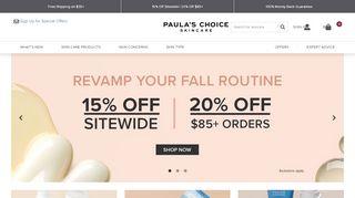 Paula'S Choice Coupon Code & Promo codes