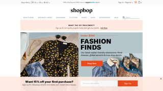Shopbop Code Coupons & Promo codes