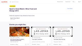 Spainsgreatmatch2013.eventbrite.com Coupons & Promo codes