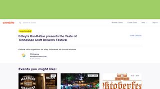 Tasteoftennessee.eventbrite.com Coupons & Promo codes