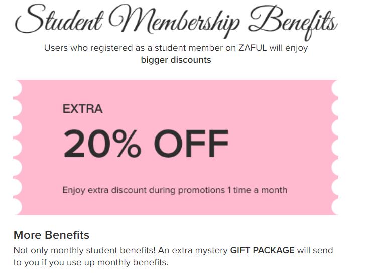take advantage of zaful student discounts