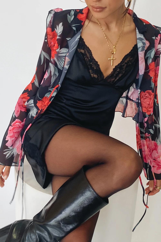 the love club mini dress black