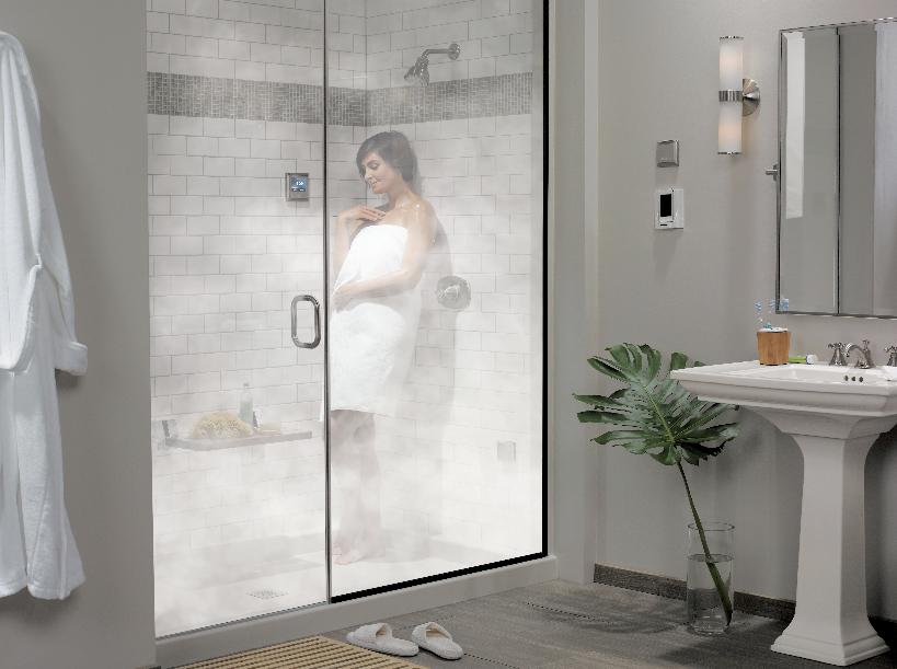 turn your bathroom into a sauna
